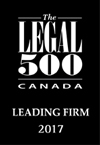 Legal 500 Canada Leading Firm Badge