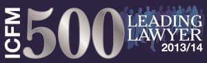 Top 500 ICFM Leading Lawyers by InterContinental Finance Header
